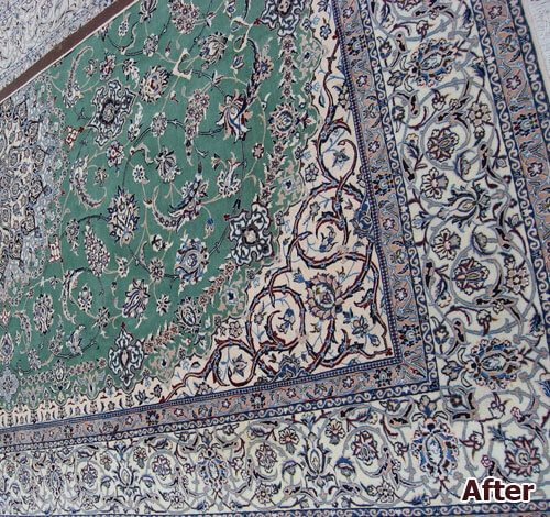 Oriental Rug Color Correction
