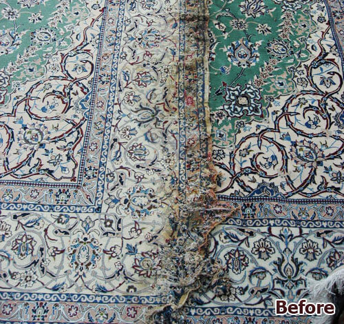 Oriental Rug Repair Re Dyeing Color Correction San Diego