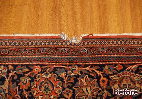 Oriental Rug Unraveling Repair